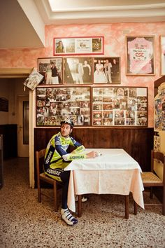 Ivan Basso  Location: Italy, October 2010  Featured in Cycle Sport January 2011 portraits by Richard Baybutt