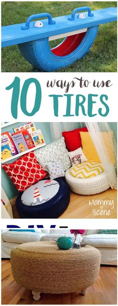 Creative ways to use old tires - Mommy Scene