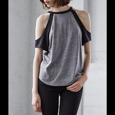 Pacsun Gray Black Cut Out Arm Edgy Top-XS & L Brand new! Sizes available: XS & L. Super cute cut out arm top. Love this heather gray and black unique top. Pacsun Gray And Black Cut Out Arm Edgy Top- SIZES: XS & L PacSun Tops