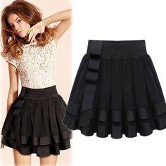 2013 summer new models women's wholesale ribbon stitching pleated skirt elastic waist skirts fresh wild Little Black Skirts, Little Girl Skirts, Skirts For Kids, Casual Skirts, Cute Skirts, Mini Skirts, Pleated Skirts, Skirt Fashion, Fashion Outfits