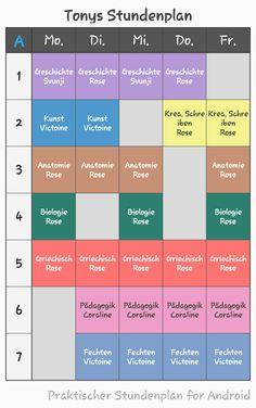 Tonys Stundenplan