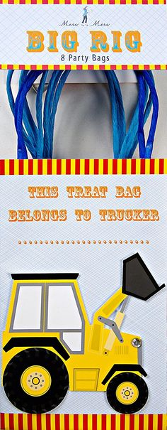 MERI MERI Big Rig Party Bags * You can find out more details at the link of the image.