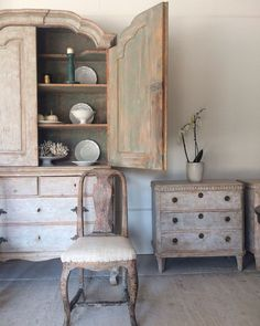 New Arrivals at Anton & K  Swedish Antiques with hand scraped Patina
