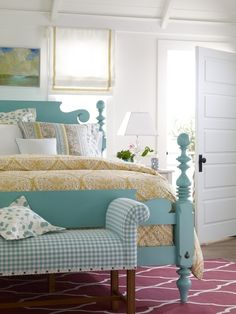 Love the color of the bed