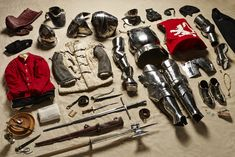 All the Stuff Soldiers Have Carried in Battle, From the 11th Century to Today | A man at arms in the Battle of Bosworth (1485) would use a poleax, an axe-like weapon that's mounted to a pole. The goal was to break through the barrier of armor used in medieval battle. There are also more standard goods like daggers.   Thom Atkinson  | WIRED.com