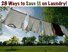 Laundry Money Saving Tips