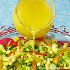 Farmer's Market Summer Salad w/ Sunny Honey Vinaigrette
