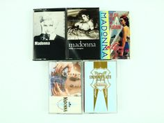 Madonna Lot of 5 Vintage Cassette Tapes Like a Virgin Immaculate - Like a Virgin #1980s