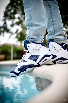 "Air Jordan ""OLYMPIC"" 6 Custom Sneakers                                                                                     Ⓙ_⍣∙₩ѧŁҝ!₦ǥ∙⍣"