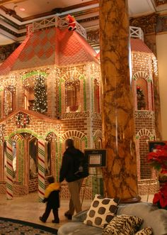 Fairmont Hotel gingerbread mansion, San Francisco (holiday time only)