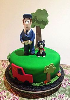 Postman Pat Jess the Cat Children's Birthday Cake, Noosa Sunshine Coast Cake Shop, Made to Order with Delivery