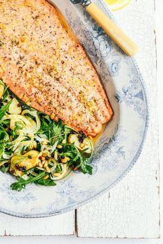 From The Kitchen: Roast Salmon with Fennel Rocket & Potato Salad