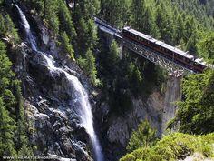 The highest tram in Europe (Zermatt, canton of Valais, 2,222 m/7,290 ft).