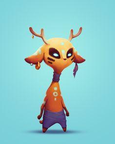 ArtStation - Deer, Ulyana Konichenkova