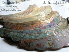 A group of Diane's latest Etched Collars! Beautiful!