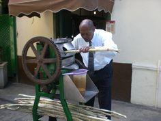 Try guarapo (sugarcane) in Havana.