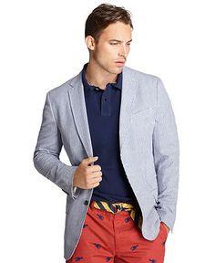 Izod Jacket, Seersucker Blazer - Mens Blazers & Sport Coats - Macys