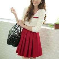 Size:S M L Color:Black, Red Detail in Tile Measurement: S:Length:78cm,Bust:81-83cm,Sleeve:59cm, Shoulder:35cm M:Length:79cm, Bust:84-86cm, Sleeve:60cm, Shoulder:36cm L:Length:80cm, Bust:87-91cm, Sleeve:61cm, Shoulder:37cm  Please write note for size and color when ordering.