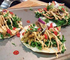 justthefood.com...the blog: Recipe: Avocado Cilantro Lime Vegan Chicken Tacos with Spicy Aioli