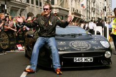 Maximillion Cooper saying hello to the Gumball fans in London