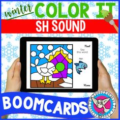 "This is a digital resource that can be accessed on the Boom Learning platform. With your purchase you will receive a PDF with a link to add these Boom Cards™ to your Boom Library.Students practice saying the SH sound in words to ""paint"" a winter picture piece by piece. Four pictures total (snowman, ..."