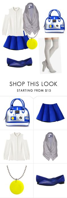 """""""Disneybound: R2D2"""" by rikuknight ❤ liked on Polyvore featuring Loungefly, Rebecca Minkoff, Zadig & Voltaire, Joe's Jeans and Express"""