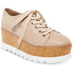 Steve Madden Women's Korrie Lace-Up Platform Sneakers ($129) ❤ liked on  Polyvore · Platform SneakersLeather SneakersShoes ...