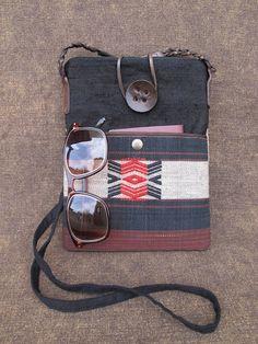 Shoulder  bag /  Small  Tribal  bag / Crossbody  Travel  bag. $15.00, via Etsy.