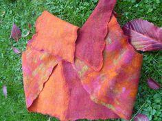 autumn scarf nuno felt 2