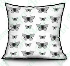 Butterflies - Download Image - Fabric Transfer Iron On Pillows Totes Towels and more