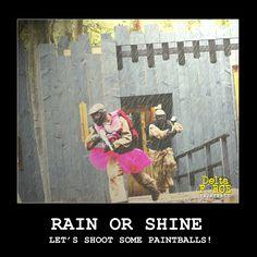 Paintball is always fun! #paintball #rain #sun #shine