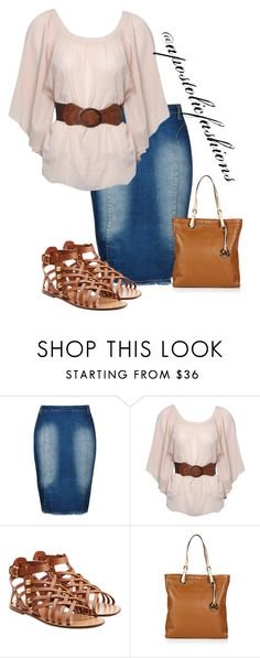 """""""Apostolic Fashions #1287"""" by apostolicfashions on Polyvore featuring City Chic, Jane Norman, Valentino and MICHAEL Michael Kors"""