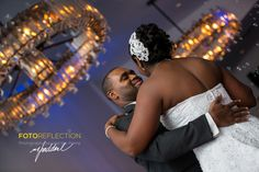 First dance of Patrice and Rodney, candid wedding photo.