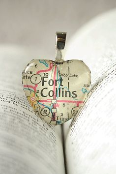 Fort Collins things on etsy Diy Jewelry, Jewelry Necklaces, Jewelry Making, Fort Collins Colorado, Glass Tile Pendant, Map Necklace, Small Heart, Leather Cord, Special Gifts