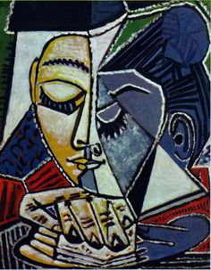 Pablo Picasso, Tête de femme lisant, 1953