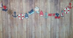 Check out this item in my Etsy shop https://www.etsy.com/listing/242145598/nautical-ahoy-its-a-boy-garland-banner