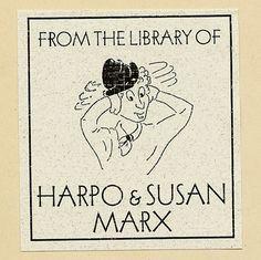 Harpo Marx | Community Post: 35 Bookplates Belonging To Famous People