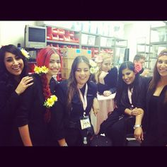 South Coast Plaza Sephora crew looking fresh in their flowers.