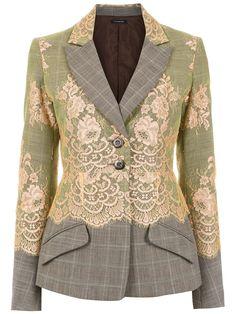 À La Garçonne wool blazer - Multicolour Source by bettyemwilliams Dress Blazer Fashion, Fashion Top, Haute Couture Fashion, Blazer Jacket, Blazer Dress, Lace Blazer, Refashion, Ideias Fashion, Casual Outfits