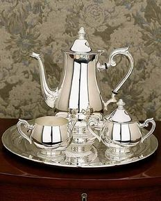 Silver Tea Set Vintage Antique