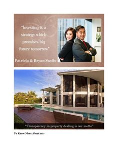 """Patricia Susilo and Bryan Susilo had thoughts about being the designer of own life. She took the words of his father seriously like """"You are the architect of your own life"""" and like """"diamonds are rare because they need to have gone through immense pressure"""". Linkedin- http://au.linkedin.com/pub/bryan-susilo/5a/b2/a22"""