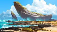 ArtStation - Sea Landscapes, Anton Fadeev
