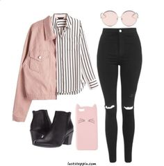 66 awesomely cute back to school outfits for high school 63 Kpop Outfits, Teen Fashion Outfits, Outfits For Teens, Fall Outfits, Fall College Outfits, Summer School Outfits, Pink Outfits, Outfit Winter, Office Outfits