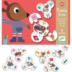 Djeco Puzzel Trio De Dag