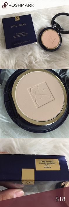 "Double Wear Powder Foundation Double Wear powder foundation in the shade 3C2 ""Pebble"". Only tried once and ended up buying a different shade. Comes with box as well! Estee Lauder Makeup Face Powder"