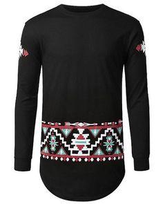Envmenst 2017 extend hip hop street T-shirt wholesale fashion brand geometry printed t shirts men autumn long sleeve US Size Mens Printed Shirts, Cotton Shirts For Men, Men's Shirts, Tees, White Shirt Men, White Shirts, Summer Sweaters, Mens Sweatshirts, Hoodies