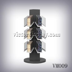 Mosaic Tile Rack with rotating base for mosaic tile sample boards for dealer's showroom exhibition. Display Boxes, Display Case, Display Ideas, Stone Mosaic Tile, Mosaic Tiles, Sample Boards, Buy Tile, Xiamen, Quartz Stone