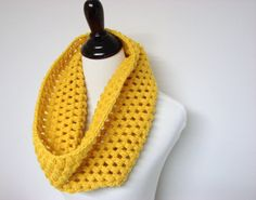Somebody make this for me! Mustard Yellow Cowl $30.00 @MyHobbyShop  #winter #accessories #scarf #women #gifts