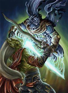 Legacy of Kain. Raziel & Kain. Fatal Ending - Front Cover by chibi-j.deviantart.com