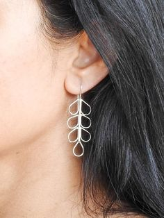 Items similar to Fern earrings Modern earrings Boho jewelry Dangle earrings Silver earrings Silver dangles Contemporary jewelry Gifts for her Nature jewelry on Etsy Copper Earrings, Boho Earrings, Boho Jewelry, Unique Jewelry, Fern, Dangles, Gemstones, Trending Outfits, Handmade Gifts